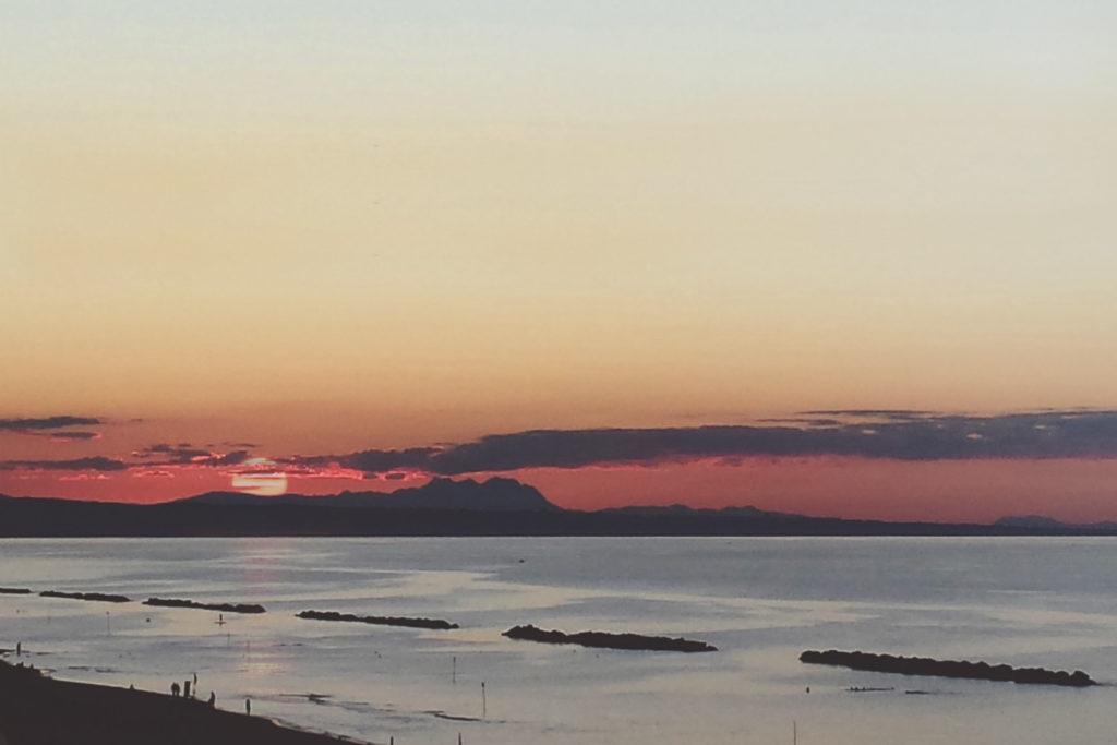 un selfie al tramonto sul belvedere dei fotografi