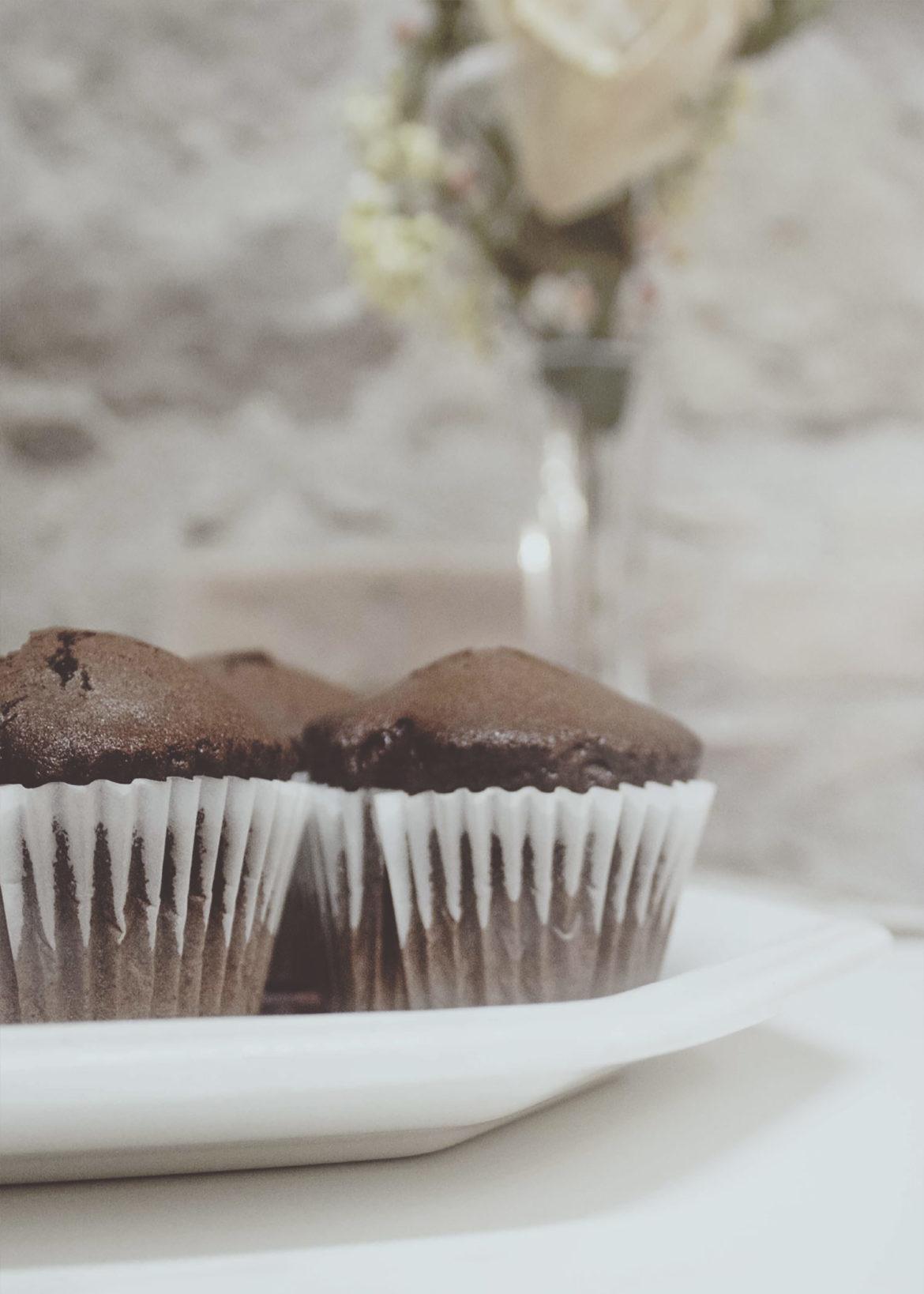 muffin al cioccolato a colazione