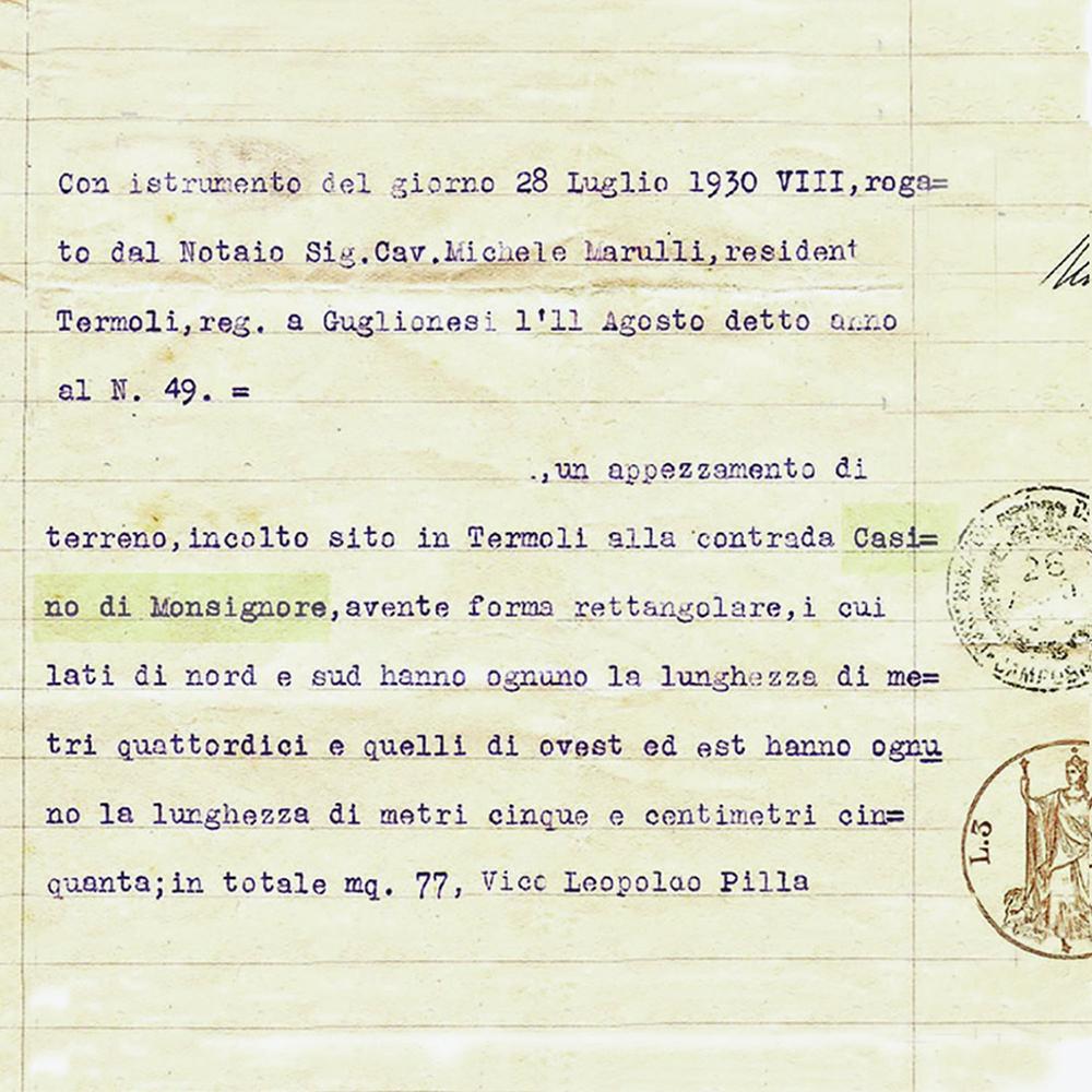 Storia del nome di Dimora Monsignore