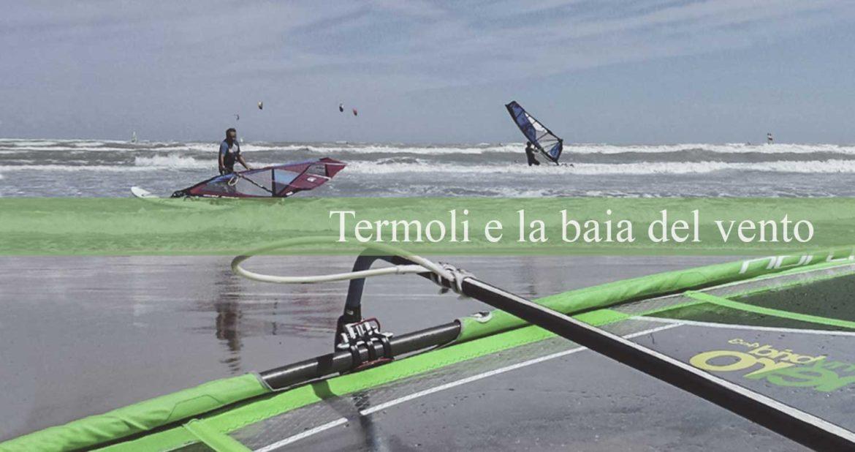 La spiaggia di Rio Vivo di Termoli baia del vento, windsurf e kitesurf