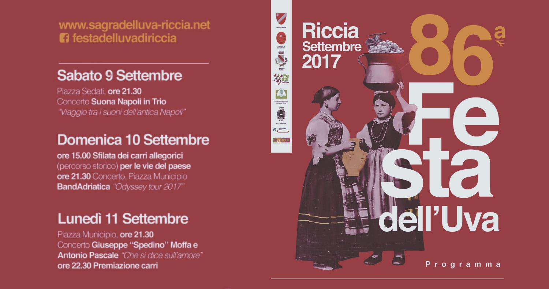 Festa dell'Uva a Riccia in Molise 86esima edizione 2017