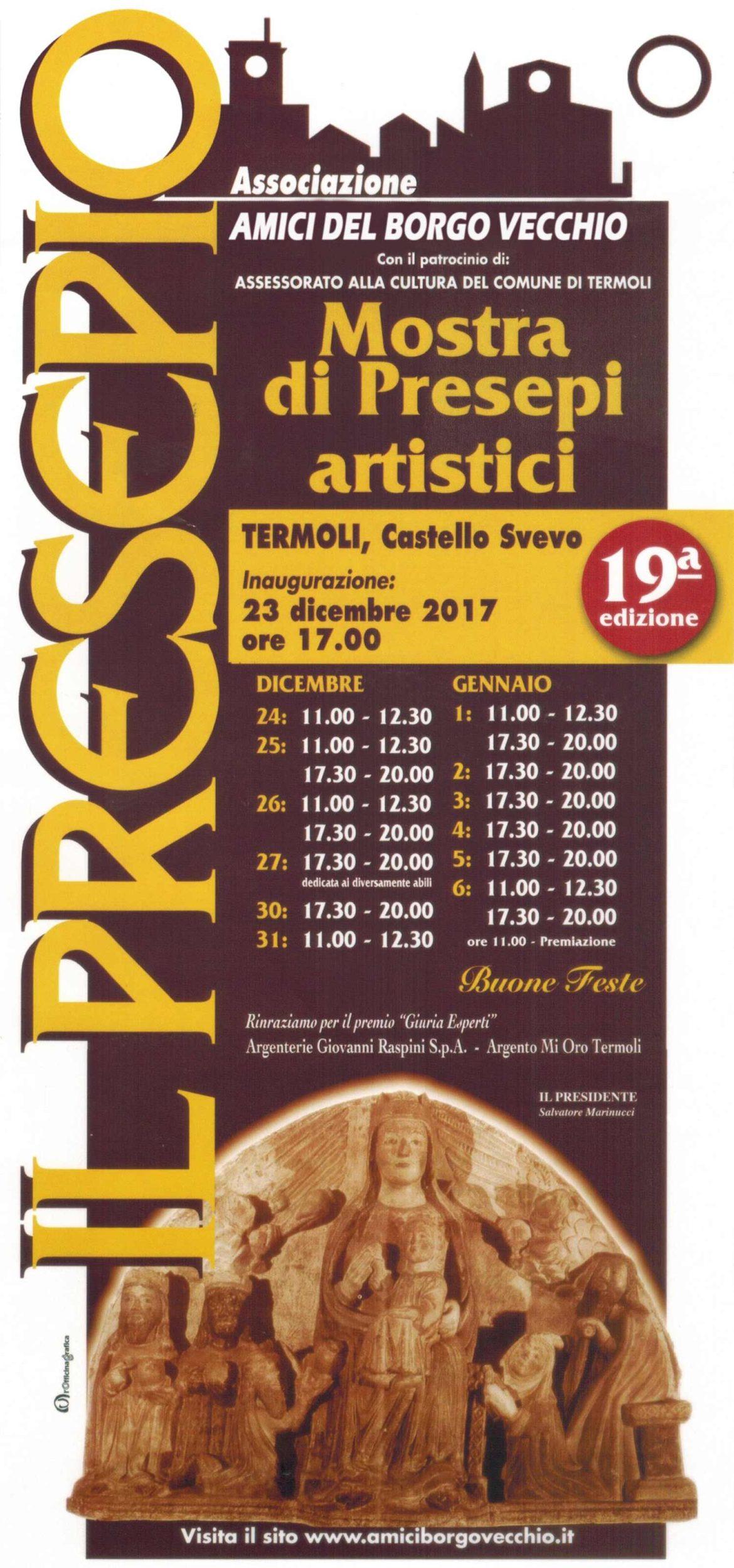 Natale in Molise: Termoli la mostra dei presepi 2017 al Castello Svevo