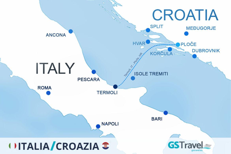 Orari traghetti 2018 per la Croazia: da Termoli per Ploče.