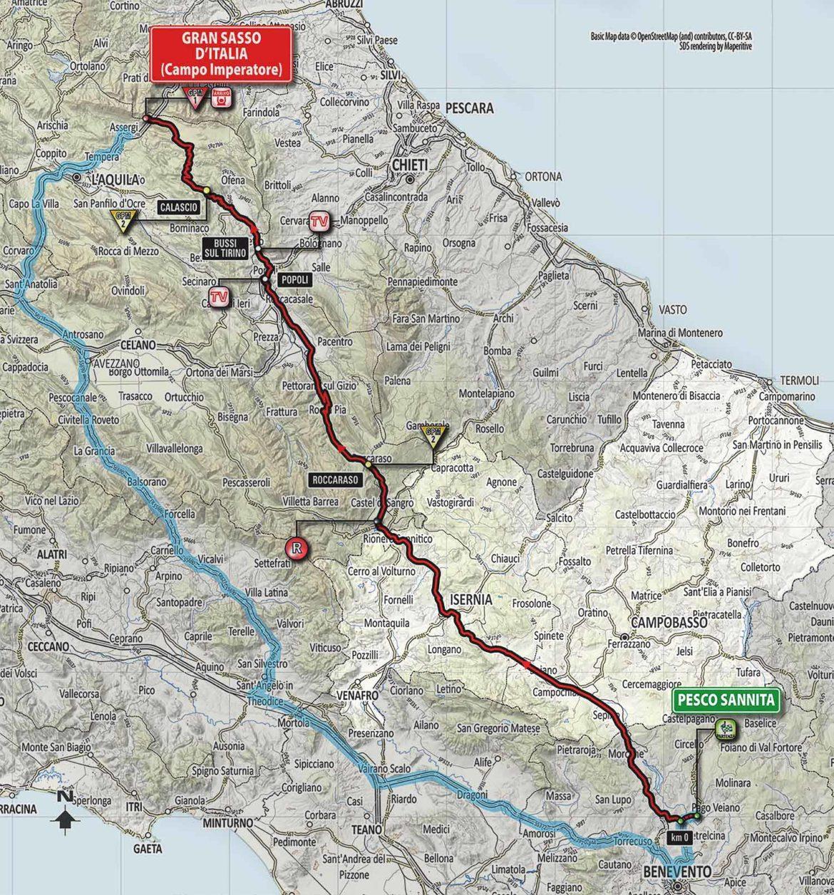 Il 13 maggio il Giro d'Italia 2018 attraversa il Molise