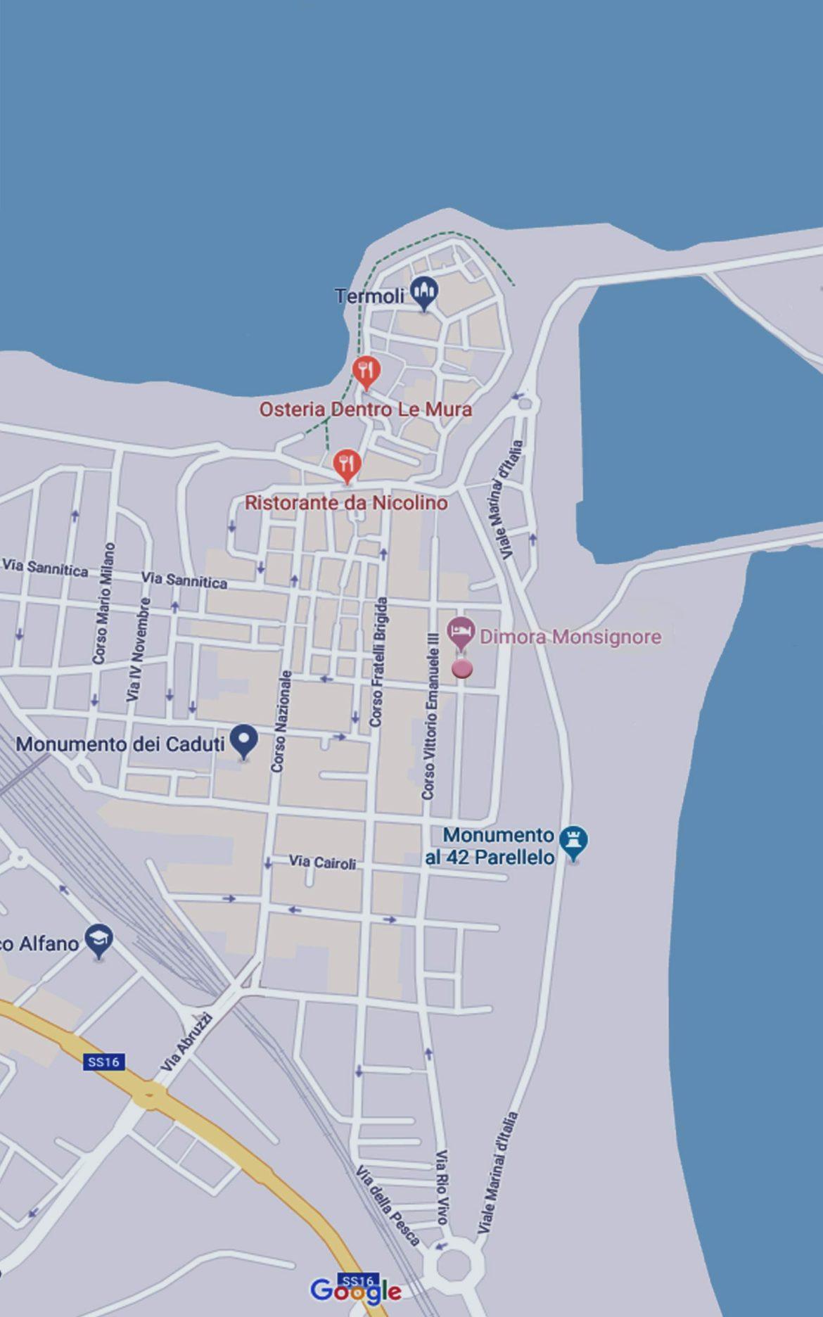 Maps Termoli e Dimora Monsignore