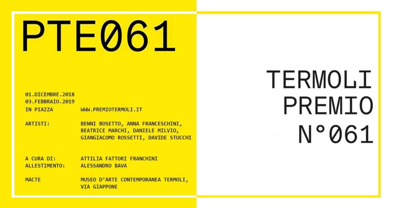 """Mostra d'arte contemporanea: la 61esima edizione del """"Premio Termoli"""" 2018"""