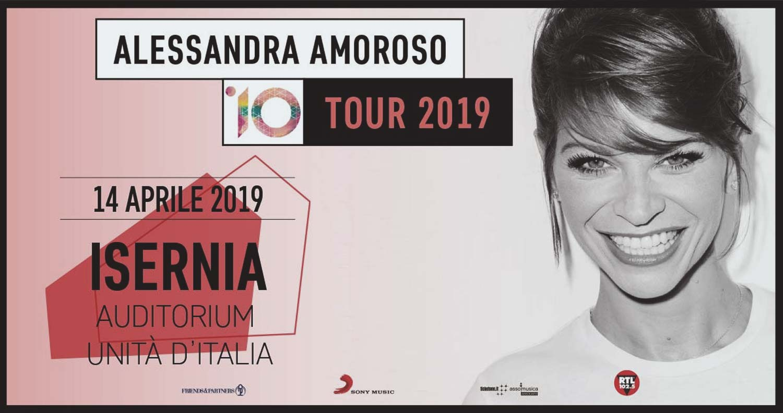 Alessandra Amoroso 10 tour 2019 in concerto all'Auditorium di Isernia