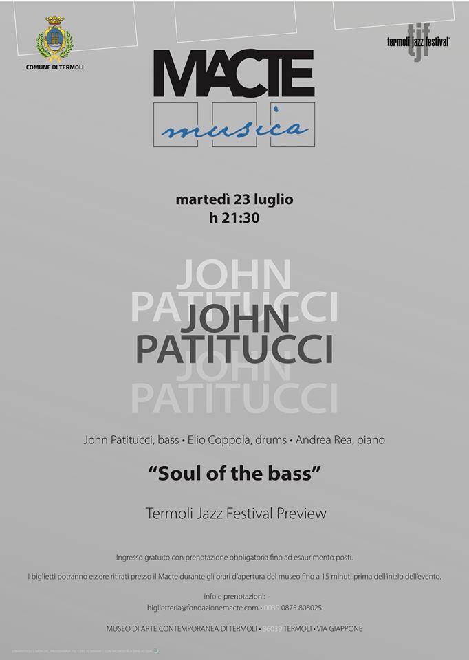 John Patitucci al Termoli Jazz Festival 2019| 23 luglio al Macte