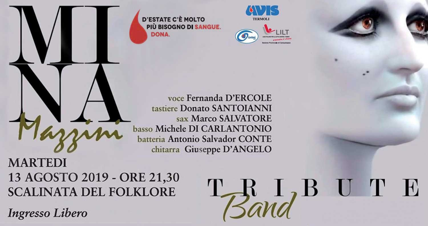 Mina Tribute Band alla Scalinata del Folklore | 13 agosto 2019