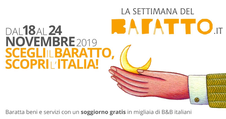 """Dal 18 al 24 novembre torna la """"Settimana del Baratto"""", giunta alla XI edizione"""