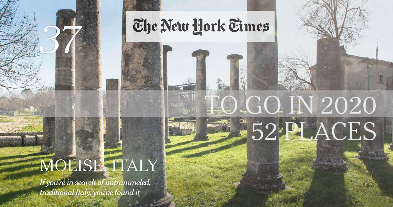 Molise incoronato tra le mete 2020 dal New York Times