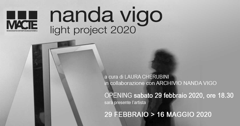 """""""Light Project 2020"""" mostra al Macte di Nanda Vigo: dal 29 febbraio al 16 maggio 2020"""
