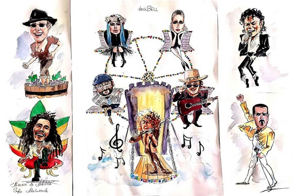 bozzetti bozzetti del Carnevale di Larino 2020Carnevale di Larino 2020