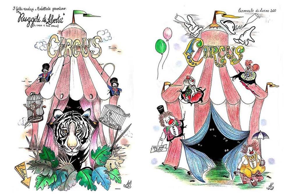 bozzetti del Carnevale di Larino 2020