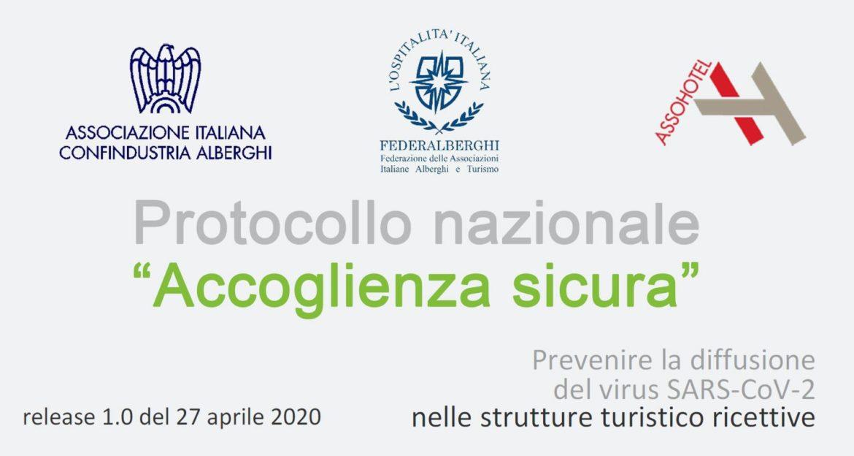 """Protocollo nazionale """"Accoglienza sicura"""" della Federalberghi del 27 aprile 2020"""