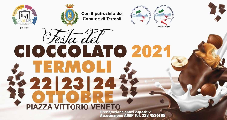 """Seconda edizione della """"Festa del Cioccolato 2021"""" dal 22 al 24 ottobre – Termoli"""